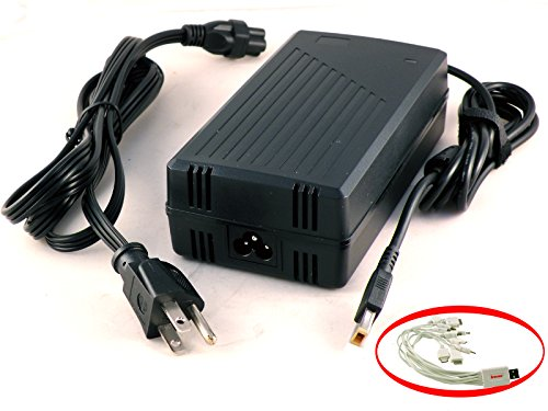 iTEKIRO 135W AC Adapter Charger for Lenovo Y700, Y50, Y50-70, Y50-70 59425943, Y50-70 59425944, Y50-70 59426255, Y50-70 59439766, Y50-70 59440638, Y50-70 59440646, Y50-70 59440649, Y50-70 59440654, Y50-70 59440656, Y50-70 59440675, Y50-70 59441287, Y50-70 59441814, Y50-70 59444164, Y50-70 59444165, Y50-70 59444167, Y50-70 59444168, Y50-70 59444169, Y50-70 59443052, Y50-70 59443055, Y50-70 59443538, Y50-70 59443542 + 10-in-1 USB Charging Cable