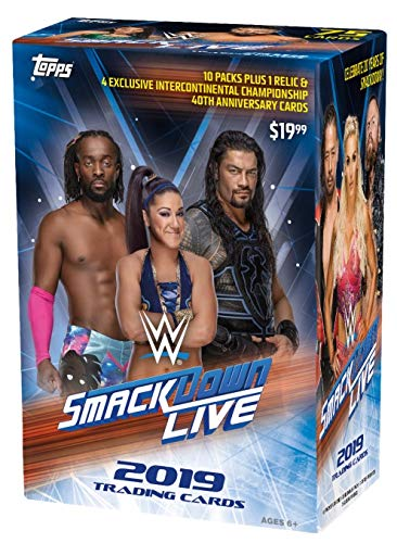 19 Topps Cards: WWE Smackdown Value Box