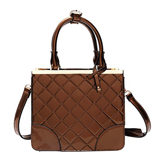 best-awesome-bronze-quilted-patent-leather-designer-convertible-evening-bag-purse-clutch-top-case-un