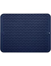 Silicone Dish Drying Mat,Easy Clean Dishwasher Safe Heat Resistant Eco-Friendly Trivet
