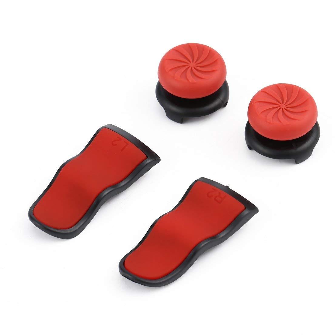 L2 R2-Tasten Extention Trigger Handle Rocker Cap-Abdeckungssatz Soft Touch Grip Extenders Spieleinstellungen f/ür den PS4-Controller DFHJSXD