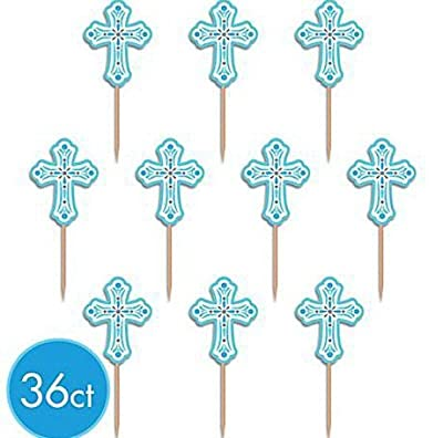 Blue Religious Party Picks - 36 ct