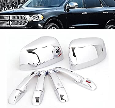 Chrome Door Handle Covers,For Jeep GRAND CHEROKEE 2011 2012 2013 2014 2015 2016 2017 door handle RVTYR Color : Silver