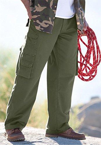 Boulder Creek Men's Big & Tall Side Elastic Ranger Cargo Pants, Dark Khaki