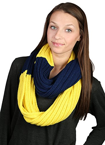 Spirit Referee Costume (CC Infinity Pro College High School Team Game Day Circle Scarf - Navy & Maize)