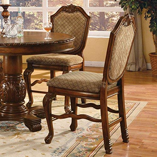 ACME 04084 Set of 2 Chateau de Ville Counter Height Chair, Cherry Finish