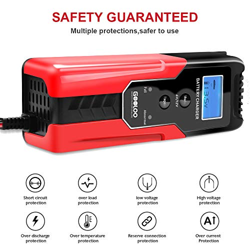 6A Car Battery Charger Maintainer Auto 12V Trickle RV for Truck Motorcycle