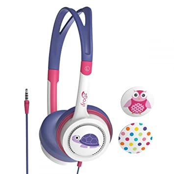 iFrogz Little Rockers - Auriculares de diadema cerrados, color rosa ...