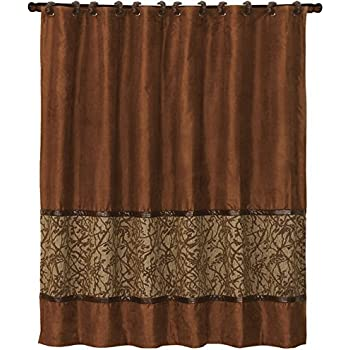 HiEnd Accents LG1860SC Highland Lodge Shower Curtain 72x72
