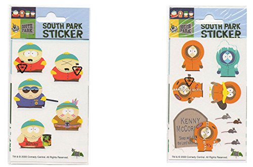 SP Cartman Kenny South Park Comedy Central Stickers