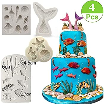 Arts,crafts & Sewing Bright Silicone Mini Mermaid Tail Mold Fondant Cake Molds Cupcake Kitchen Baking Tools Gum Paste Chocolate Clay Candy Moulds Bakingtool