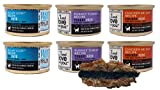 I and love and you Grain Free Cat Food 3 Flavor 6 Can Bundle Toy, (2) Each: Oh My Cod, Purrky Turkey, Chicken Me Out (3 Ounces)