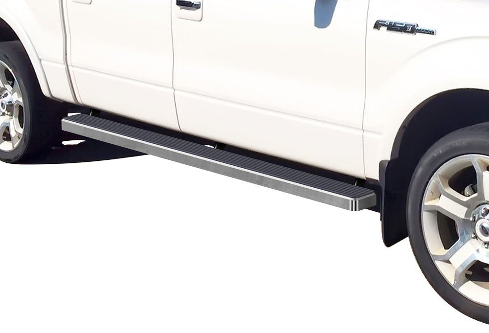 Matte Black 5' iBoard Running Boards 09-14 Ford F-150 SuperCrew Cab Nerf Bar Side Steps Tube Rail Bars Step Board APS Autoparts