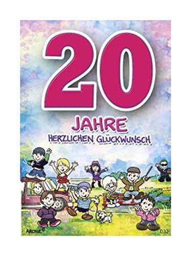 Geburtstagskarte fur 20 jahrigen