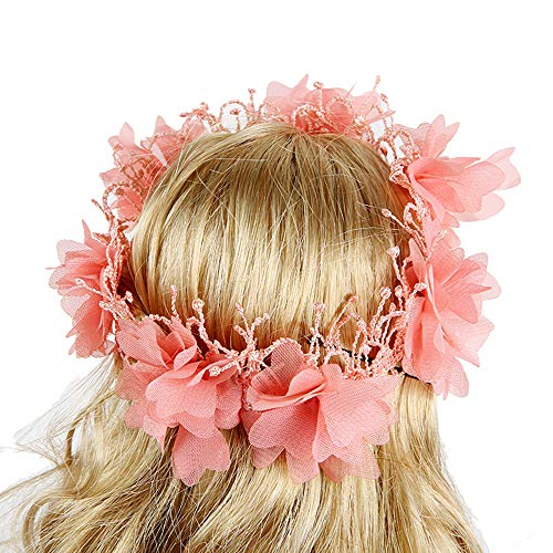 (AMOFINY Baby Toys Beautiful Hair Wreath for 18 Inch American Boy Doll Accessory Girl)