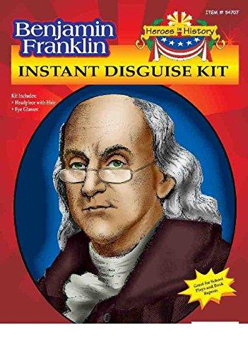 [Heroes in Patriotic History Instant Disguise Set - Ben Franklin] (Ben Franklin Costumes Child)