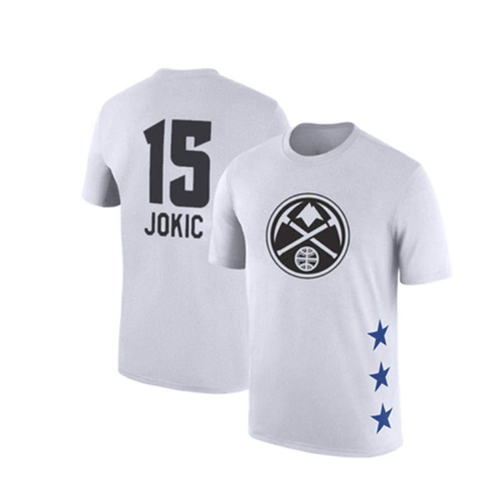 blanc4 Medium WSX T-Shirt De Basketball NBA All-Star à Manches Courtes, Chemise étudiante, Haut Imprimé, Manches Moitié Supérieure Lakers,blanc5-M