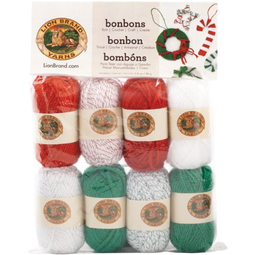 Lion Brand Yarn 601-670 Bonbons Yarn, Jingle Bells