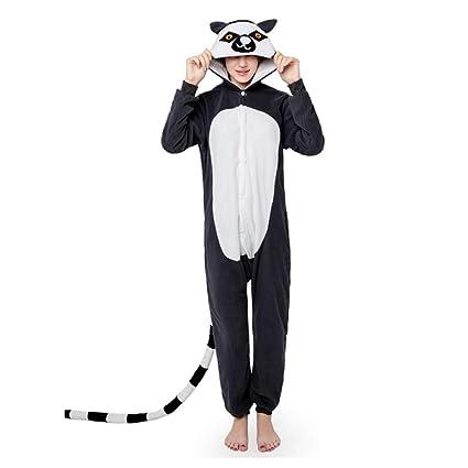 918d880dd YLOVOW Pijamas para Adultos Unisex Cálido Halloween Y Navidad Cosplay  Animales De Vestuario Ropa De Dormir