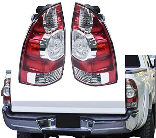 Set of Pair Chrome Clear LED Taillights for 2005-2015 Toyota Tacoma