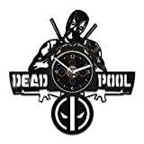 Wall Clock Vintage, Vinyl Record Wall Clock, Clock Deadpool, Marvel Comics Clock, Deadpool Gift, Birthday Gift For Kids, Deadpool Vinyl Wall Clock, Wall Clock Large, Gift Deadpool, Deadpool Clock For Sale