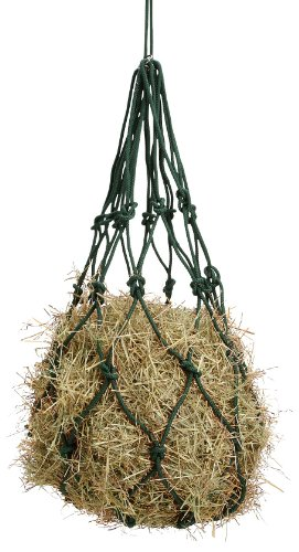Tough 1 Solid Braided Cotton Hay Bag, Black (Hay Net Cotton)