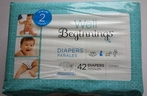 Well Beginnings Diapers Size 2 Jumbo Bag of 42 Diapers by Well Beginnings [並行輸入品]   B019X720X0