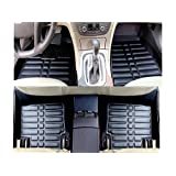 FLY5D®Car Floor Mats Front & Rear Auto Waterproof Mat For Honda Civic 2011-2015 (Honda Civic 2011-2015, Black)