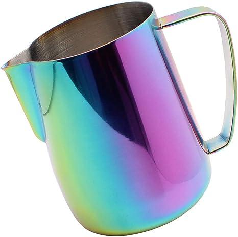 cafetera de espresso cafetera de capuchino 600 ml Jarra de acero inoxidable para espumador de leche de acero inoxidable para latte arte