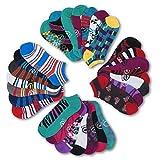 Ecko Red Women's Fun Print Low Cut Ankle Socks (28 Pack) (Style #1)