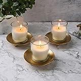 Iron Plate Candle Holder, Gold, Decorative Iron
