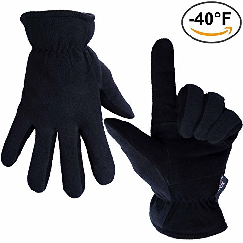 OZERO -40ºF Thermal Gloves for staying warm camping in a tent with tips to stay warm when camping