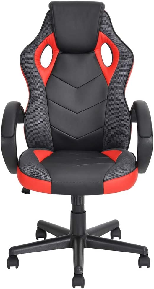 HOMY CASA Game Chair Ergonomic Computer Seat Faux Leather Office Racing Desk Chair