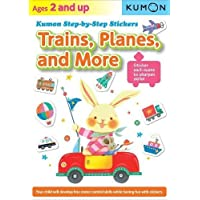 Trains, Planes, and More: Kumon Step-By-Step Stickers