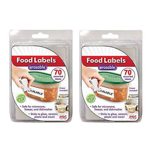 Jokari Erasable Food Labels 2 Pack Refill, Reusable, Freezer, Microwave and Dishwasher Safe Kitchen Tool for All Purpose Meal