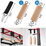 YCHLCHL Wooden Pull Up Grips, Street Workout