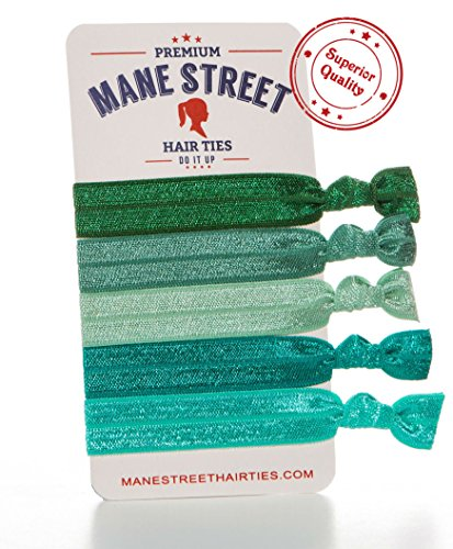 mane-street-hair-ties-green-made-from-the-best-fold-over-elastic-material-on-the-market-no-tug-durab