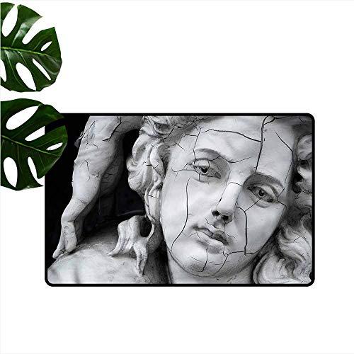 Non-Slip Door mat Sculptures Fractured Woman Face Breathability W16 ()