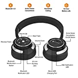 Paww WaveSound 3 Bluetooth Headphones – Active Noise Cancelling Headphones with Airplane Adapter, Charging Cable & Carrying Case – Foldable Travel Headphones/Over-Ear Headphones