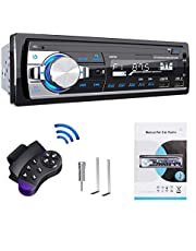 Bluetooth Auto Stereo, Lifelf Autoradio Bluetooth 65 W X 4 FM RDS Radio Handsfree Bellen met Draadloze Afstandsbediening Enkele Din MP3-speler, USB/TF/AUX Audio