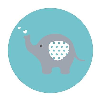 Amazon Com Magjuche Blue Grey Elephant Baby Shower Stickers Boy 2