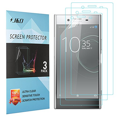 Price comparison product image Xperia XZ Premium Screen Protector, J&D Premium HD Clear Film Shield Screen Protector for Sony Xperia XZ Premium (3 Packs)