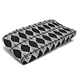 Liz and Roo Pow Wow Contoured Changing Pad Cover, Black and White
