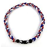 "MapofBeauty 18"" Three Colors Fashion Three Braided Rope Tornado Necklace"