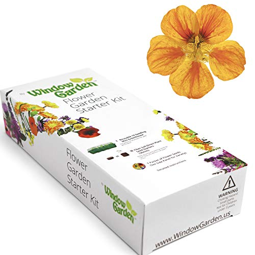 (Garden Starter Kit (Nasturtium) Grow a Garden by Seed. Germinate Seeds on Your Windowsill Then Move to a Patio Planter or Flower Patch. Mini Greenhouse System Makes it Foolproof, Easy and Fun.)