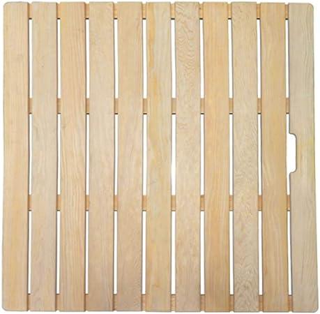 Alqn Tapis De Bain De Douche En Bois Naturel Plancher A Lattes Antiderapant Rectangulaire Pour Salle De Bain Baignoire Sauna Piscine Naturel 50 80cm Amazon Fr Bricolage