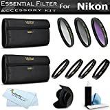 52mm Bundle Lens Accessory Kit For Nikon D5200 D5300 D3300 D3200 D3100 D5100, P600 Which Have Any Of These (18-55mm, 55-200mm, 50mm) Nikon Lenses Includes 52mm 3pc High Res. Multi Coated Filter Kit + 52mm Lens Hood + 4pc +1 +2 +4 +10 + Close Up Filter Set