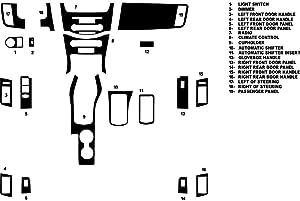 Rvinyl Rdash Dash Kit Decal Trim for Ford Focus 2008-2011 - Carbon Fiber 4D (Silver)
