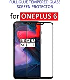 Dashmesh Shopping™ OnePlus 6 (Edge to Edge - Full Glue), 3D [Shatterproof] No Rainbow, No Dots, Full Front Body Cover Tempered Full Glass Screen Protector Guard - (Black)