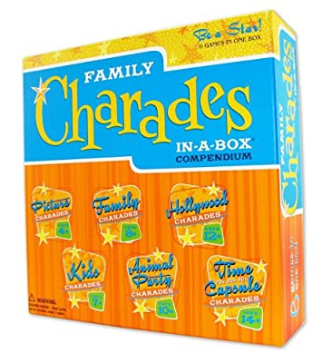 Charades Party Game - Family Charades-in-a-box Compendium Board Game by Outset Media